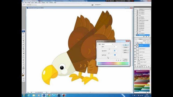 Illustrating drawing painting - cartoon eagle Jak namalować Orła