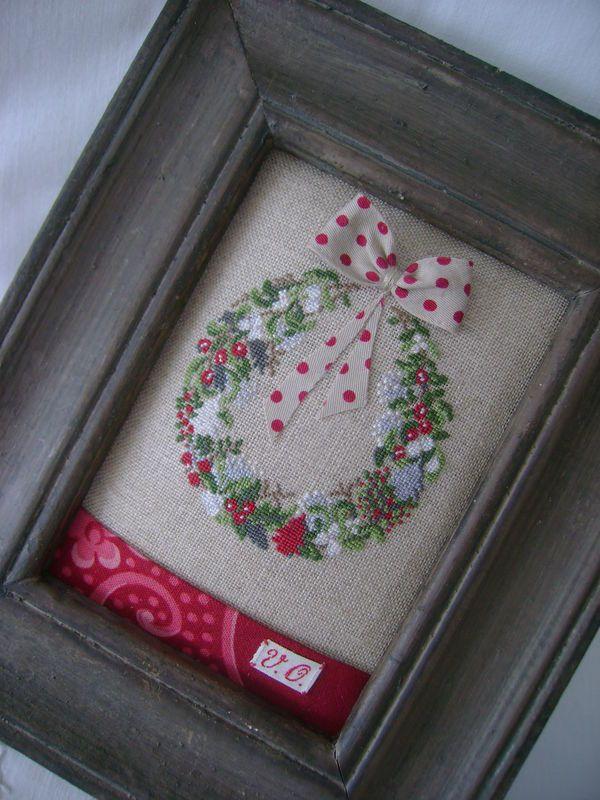 cross stitch finishing idea