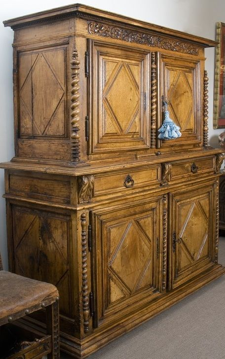 French Walnut Cabinet 17th Century