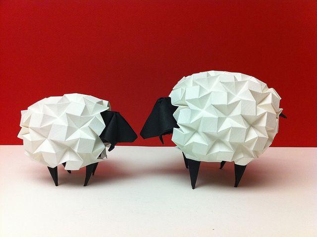 origami sheep.