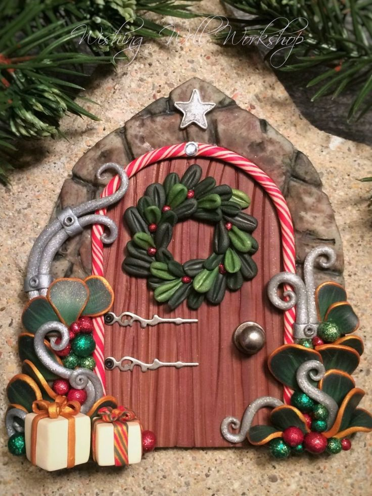 Best 25 polymer clay christmas ideas on pinterest for Fairy door shapes