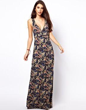 Image 4 ofOnly  Floral Camo Print Maxi Dress