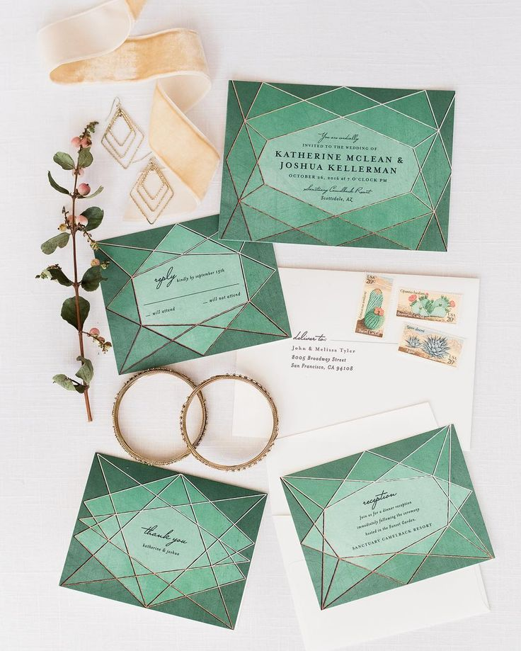 Abstract Jewel - Wedding Invitation. Planning a Greenery wedding? Look no further than Minted.com