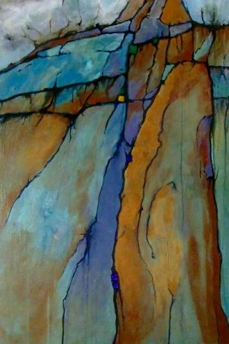 ICE AGE 9115, daily painter mixed media abstract Carol Nelson Fine Art, painting by artist Carol Nelson