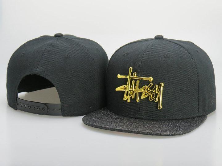 2fed317396f Men s Stussy New Era Gold Metallic Script Logo 9Fifty Customized Brim  Snapback Hat - Black   Grey