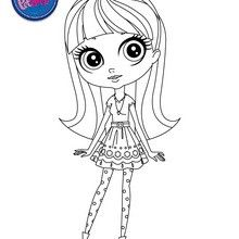 BLYTHE BAXTER online coloring page - Coloring page - GIRL coloring pages - LITTLEST PET SHOP coloring pages