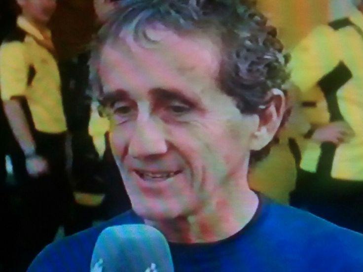 Alain Prost. Attending Abu Dhabi GP 2016
