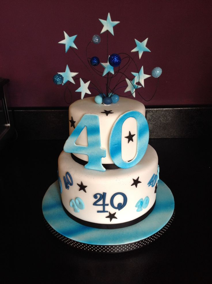 40th Birthday Cake Images Male : 40th birthday cake for a man Party food and Decor ...