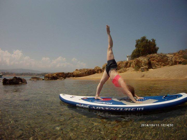 SUP Yoga with PaddleboardYoga Chania http://paddleboardyoga.net/