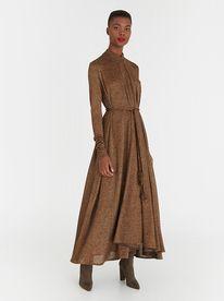 DAVID by David Tlale Long Sleeve Slip Dress Multi-colour