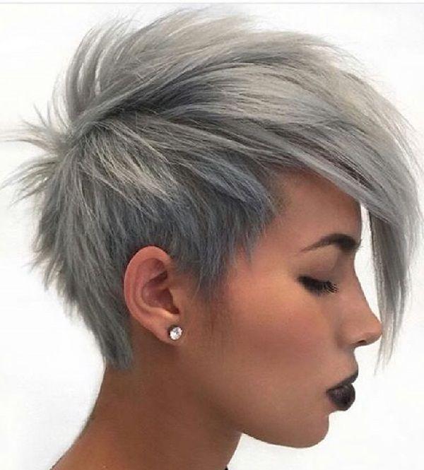 Fraulich Frisuren Fur Die Frau Graue Haarfarben Haarfarben Kurzhaarfrisuren