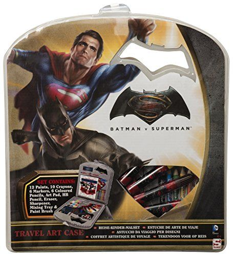 "From 3.90:Sambro Bvs-4140 ""batman Vs Superman Travel Art Case Set 