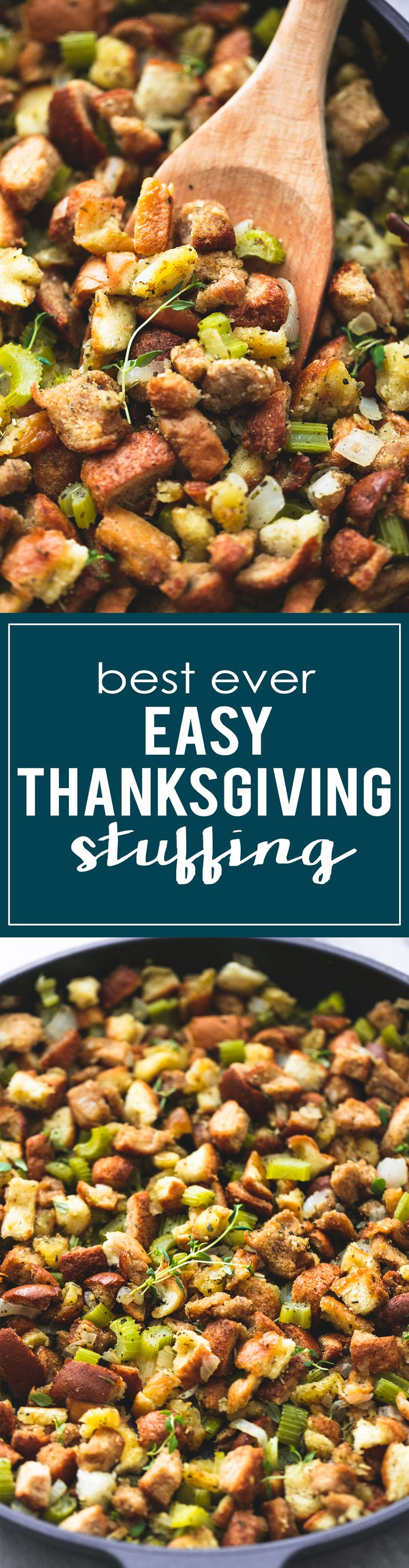 BEST Ever Easy Thanksgiving Stuffing - ready in 15 minutes! | lecremedelacrumb.com