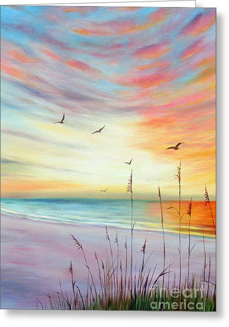 St. Pete Beach Sunset  Greeting Card by Gabriela Valencia