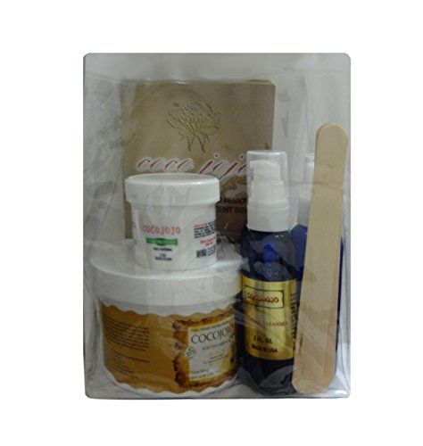 14 Oz Soft Sugaring Kit - Organic Sugaring Hair Removal to Use with Strips - Full Kit -14 Soft Sugaring Jar + 2 Oz Sugaring Powder+2 Oz Sugaring Toner +2 Oz Azulene Oil + 12 Reusable Organic Cotton Strips + 3 Spatulas + How to Use & Tips Brochure cocojojo http://www.amazon.com/dp/B00JHQQS5Y/ref=cm_sw_r_pi_dp_8g3Ovb035VARH