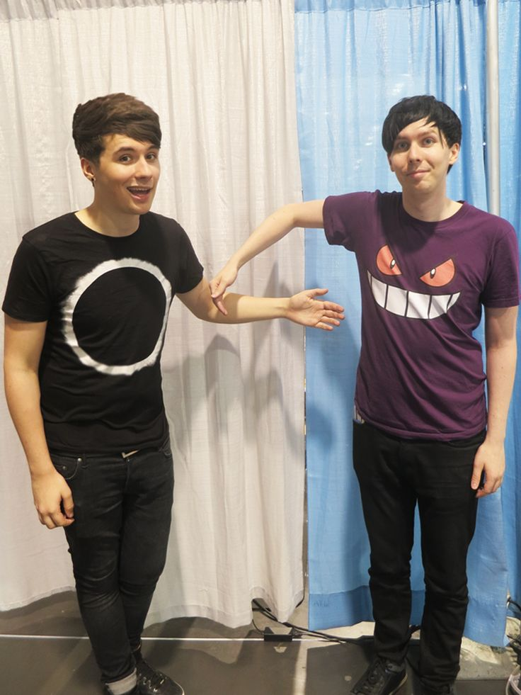 For all the people who didn't get to meet them today at VidCon, (like me, sniff) Dan and Phil made this picture so you could Photoshop yourself in and pretend you did :)