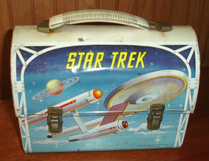 Star Trek Vintage Lunch Box  (Antique 1968 Aladdin Metal Lunchbox, Paramount Pictures)