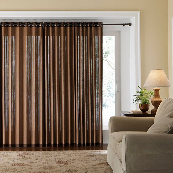 JCPenney Home Naples Grommet Top Bamboo Panel JCPenney Living Room Patio Door Curtains