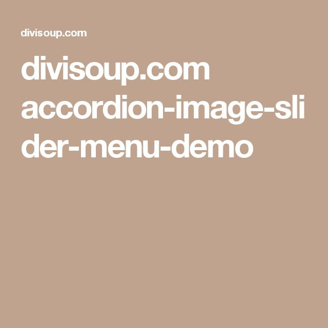 divisoup.com accordion-image-slider-menu-demo