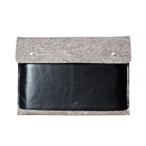 Stone Brown MacBook Sleeve with Pocket