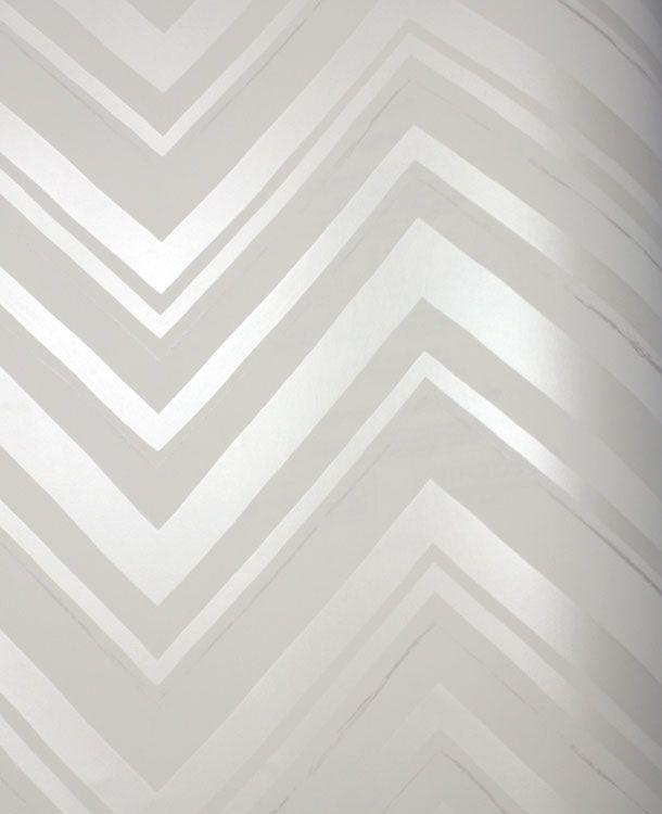 Chevron Stripe Silver wallpaper