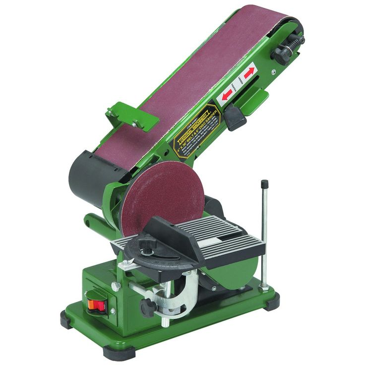 """Combination 4"""" X 36"""" Belt/6"""" Disc Sander at Harbor Freight, $65. Reg 100, so if not on sale and feeling generous, I'd prefer the Ryobi listed here!"""