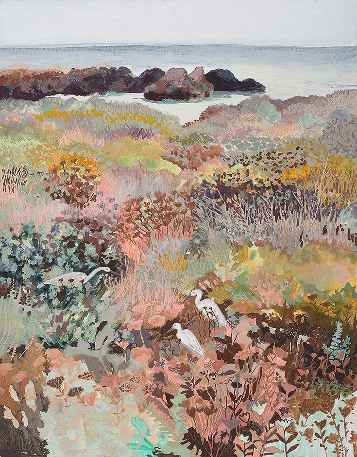"Michelle Morin, ""California Winter"", gouache and acrylic on panel, 11 x 14 cm"