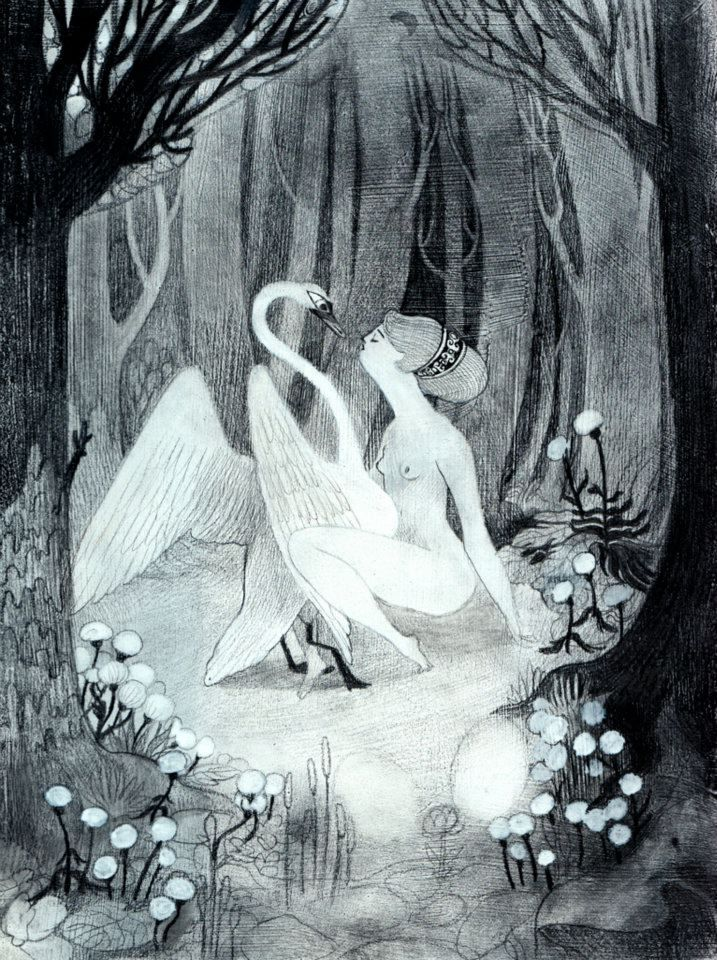 Leda and the swan by Isabella Mazzanti aka Isa Bancewicz