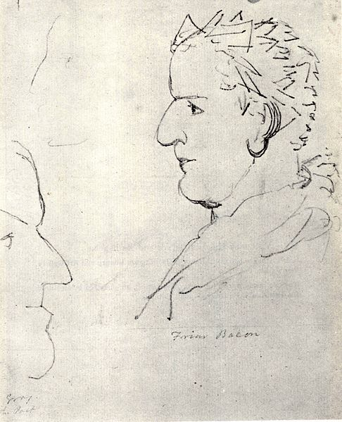 c.1820.William Blake, Visionary Heads of Friar Roger Bacon and Poet Gray.