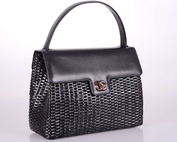 RARE CHANEL VINTAGE BAG WICKER  LEATHER St TROPEZ MUST | From a collection of rare vintage handbags and purses at http://www.1stdibs.com/fashion/accessories/handbags-purses/