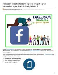 Facebook hirdetésekmegfelelő optimalizálása a magasabb konverziókért