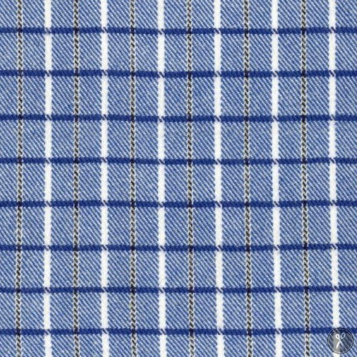 Primo Plaid Flannel Fabric Medium Plaid - Blue