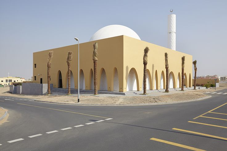 al warqa'a mosque is designed with the concept of the mosque as a house of worship as well as a social space for gathering in the community.