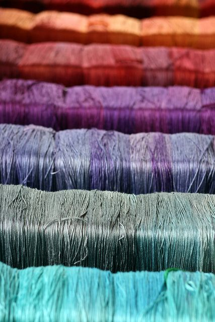 Tanis Fiber Arts silver label - mulberry silk