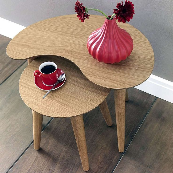 Skandi Oak Nest of Tables | Dunelm