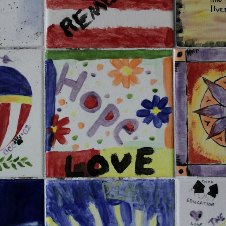 Messages of hope, love and inspiration from the Wall of Remembrance in Providence.  Built as a very moving tribute, post 9/11.   #startthedaywithsomethingbeautiful