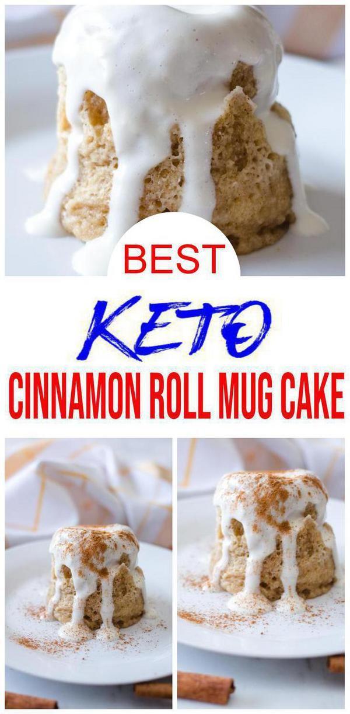 BEST Keto Mug Cakes! Low Carb Keto Microwave Cinnamon Roll ...