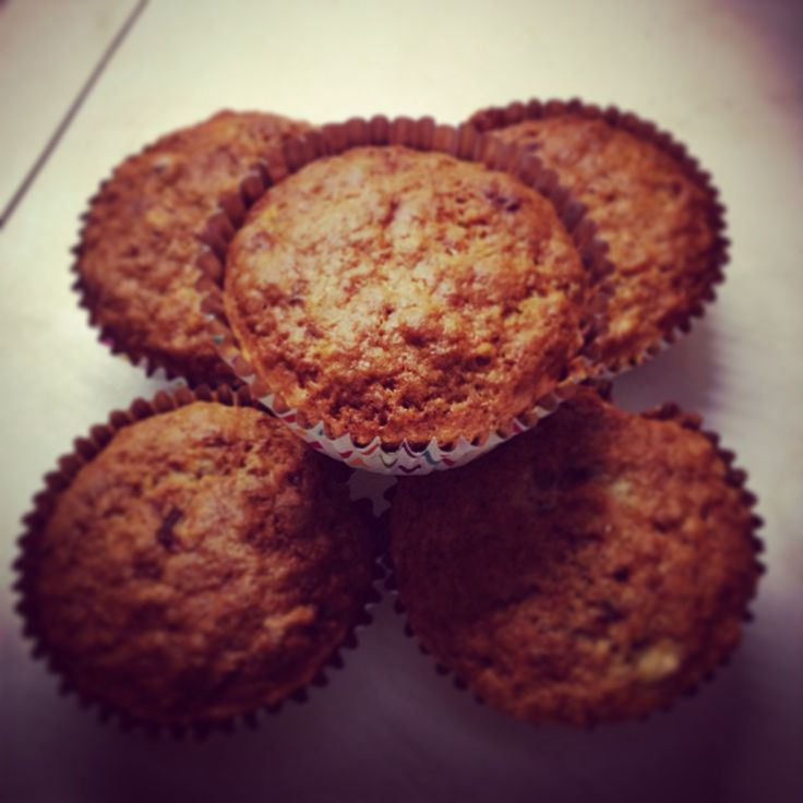 Banana and walnut muffin