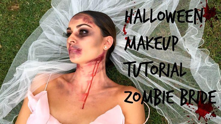 Easy Halloween Makeup Tutorial   Zombie Bride