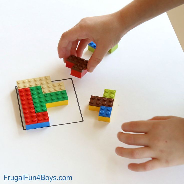 LEGO Brain Puzzles - stem building challenge for kids