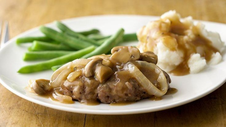 Beef steak with gravy! What could be more satisfying and delicious? This version's on the table in about 30 minutes.