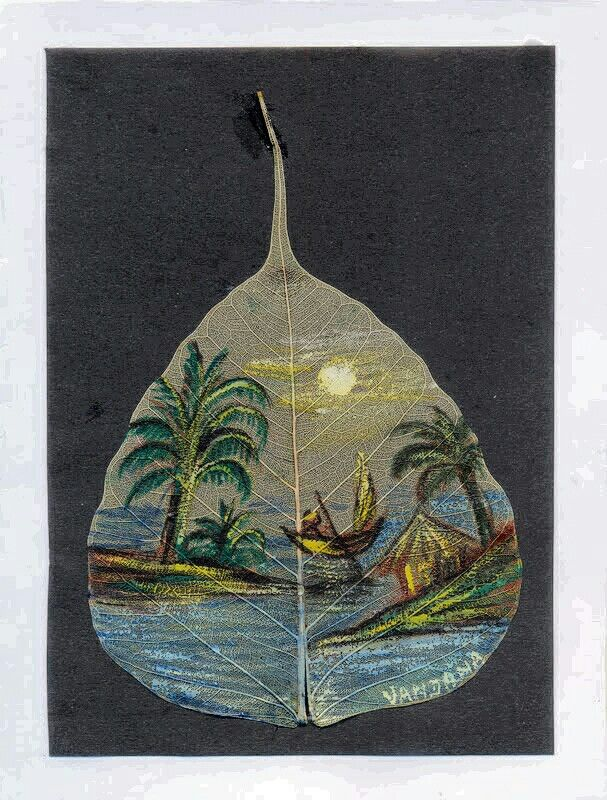 Painting On Peeapal leaf