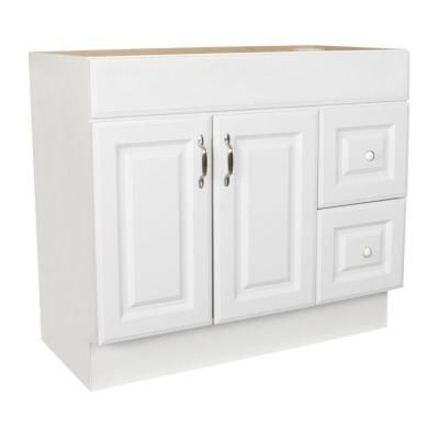 St Paul Arkansas 36 In W X 18 5 In D X In H Vanity Cabinet Only In White Home The