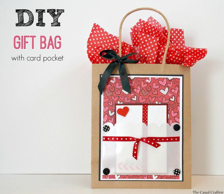 DIY Gift Bag with card pocket plus {FREE Printable Card ...
