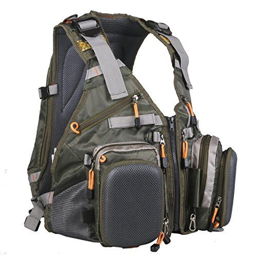 Maxcatch fly fishing backpack adjustable size mesh fishing for Fishing vest amazon