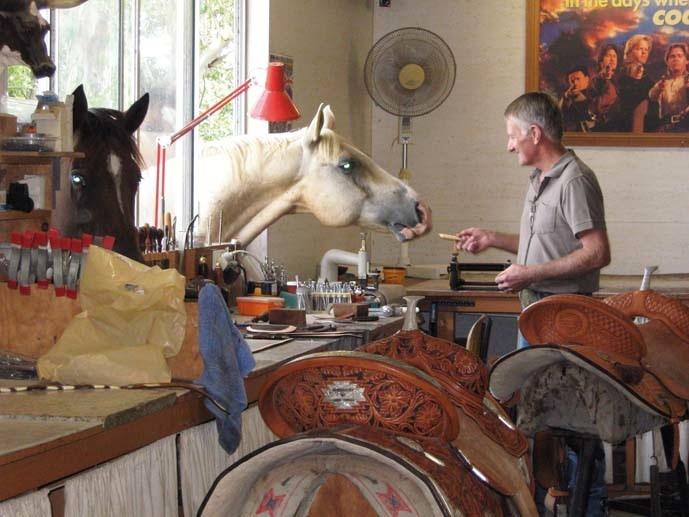 Eddy Powell has Australia's only accredited saddle school.