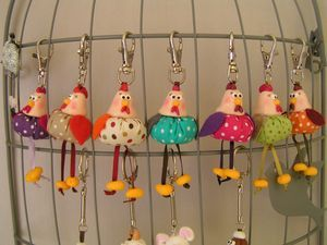 coop- fimo heads, with yo you bodies. use for scissor fobs?-P