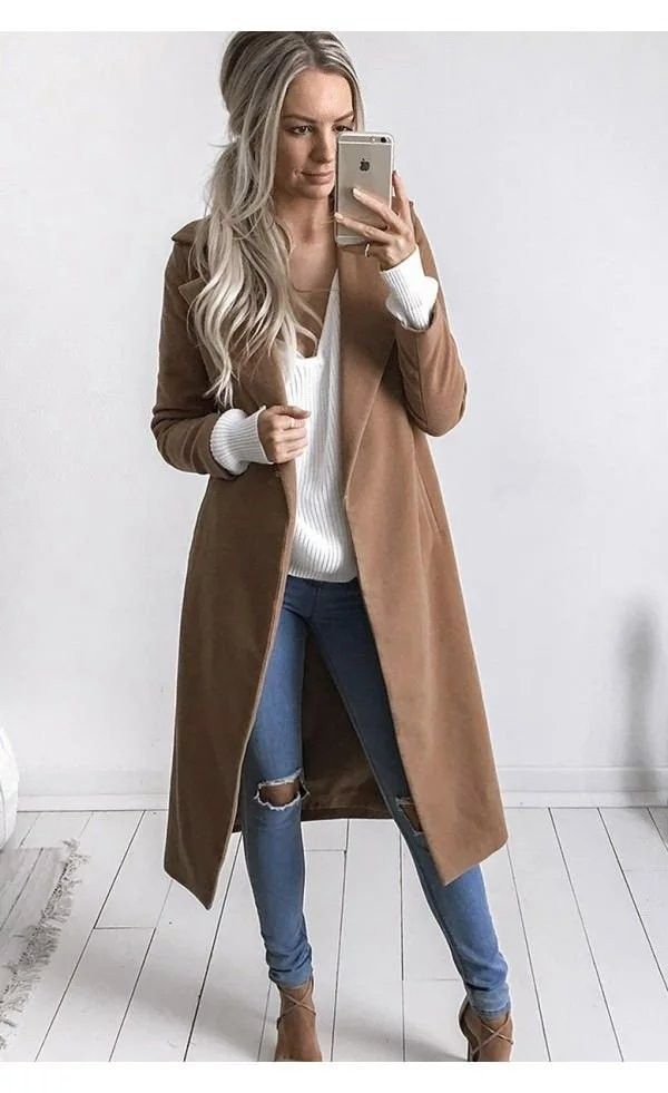 Luxury Brown Trench Coat