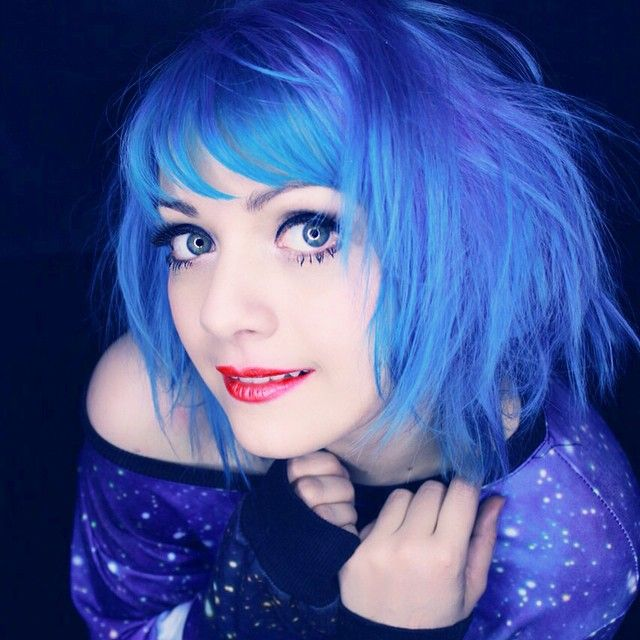 @fairymiez is wearing Bad Boy Blue as part of her fantastic look! #upyourcolourgame #BadBoyBlue