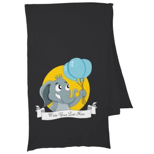 Elephant cartoon scarf wrap